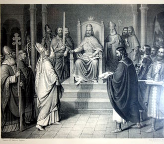 Peter Krešimir IV of Croatia - Peter Krešimir IV. being recognized as a king by the diocese of Split.