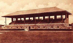 Whittier Field - Image: Hubbard Grandstand, Bowdoin College, Brunswick, ME