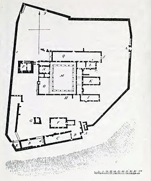 Hulne Priory - Ground plan of Hulne Priory Click on image for key