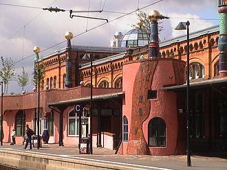 Uelzen station - Design of the main platform
