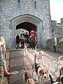 Hunt Master exits Castle.JPG