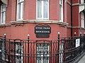 Hyde Park Mansions sign at junction of Cabbel Street and Old Marylebone Road - geograph.org.uk - 1635441.jpg