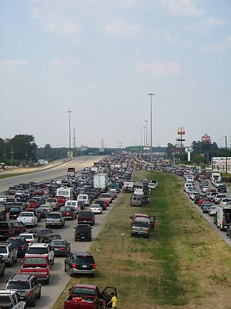 Interstate 45 - Hurricane Rita evacuation from the Louetta Road (exit 68) overpass