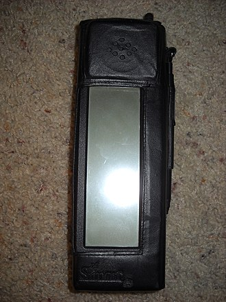 IBM Simon - The IBM Simon Personal Communicator included a custom-fit, protective, leather cover