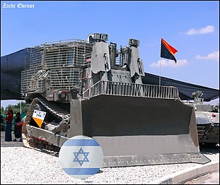 IDF armored Caterpillar D9 bulldozer - Flickr - Zachi Evenor.jpg