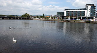 Arklow - Avoca River and Bridgewater Shopping Centre