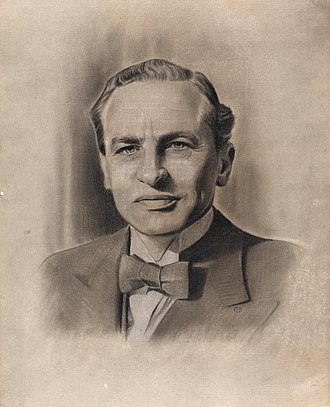 Archibald Sinclair, 1st Viscount Thurso - Sketch of Sinclair commissioned by the Ministry of Information in the Second World War period