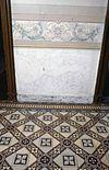 interieur, beneden hal, tegelvloer, muurschildering, details - borne - 20260711 - rce