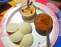Idli with Sambar and chatni, Delhi-All home made-IMG 20210326 133102.jpg