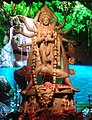 Idol of Goddess Durga being worshipped in a Panadal at Kolkata 04.jpg