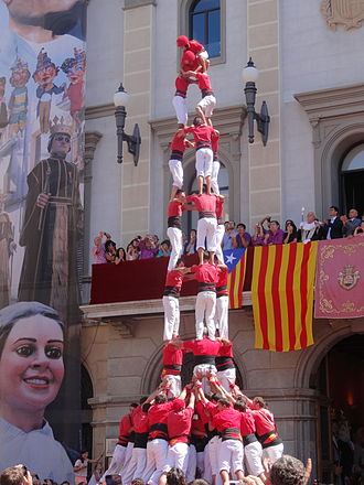 Catalans - The castells, human towers, are part of the Catalan culture since 1712 and were declared by UNESCO to be amongst the Masterpieces of the Oral and Intangible Heritage of Humanity.