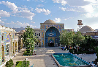 Arak, Iran - Yard of the old Sepahdar school.