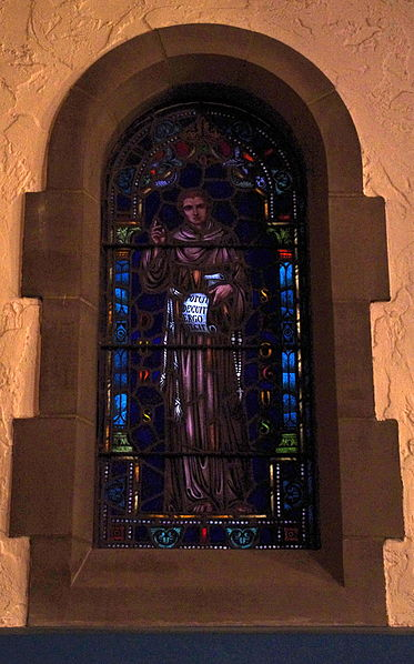 File:Immaculate Conception Church (Columbus, Ohio) - stained glass, Blessed Duns Scotus.jpg