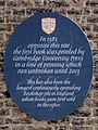 In 1583 opposite this site the first book was printed by Cambridge University Press.jpg