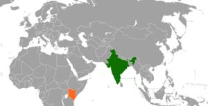 India–Kenya relations - Image: India Kenya Locator