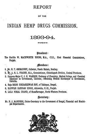 Indian Hemp Drugs Commission - Image: Indian Hemp Drugs Comission 1894