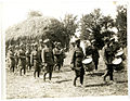 Indian infantry band 40th Pathans playing on a French farm (Photo 24-46).jpg