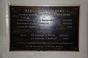 Informationsschild im Zerstörer Mölders im Deutschen Marinemuseum Wilhelmshaven