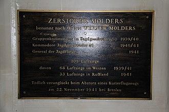 German destroyer Mölders - Plaquette of destroyer Mölders at the German Naval Museum Wilhelmshaven