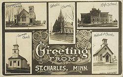 1910 postcard from St. Charles
