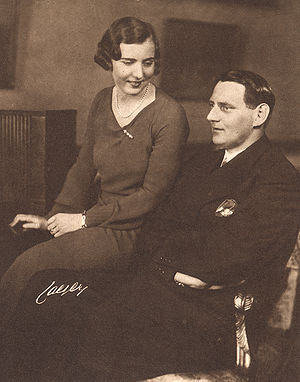 Frederick IX of Denmark - The newly engaged Princess Ingrid of Sweden and Crown Prince Frederick of Denmark in 1935.