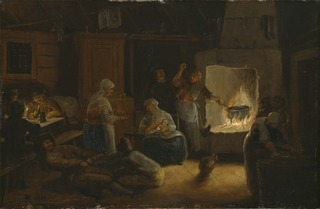 Inside a Peasant's Cottage in Småland