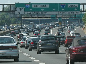 Interstate 270 (Maryland) - I-270 near the exit for Montrose Road in June 2007.
