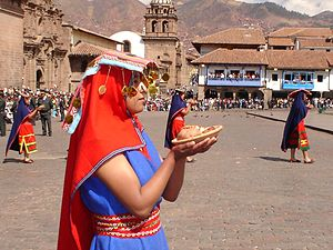 Religion in the Inca Empire - Inti Raymi, Cusco, Huacaypata, 2005
