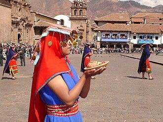 Religion in the Inca Empire - Inti Raymi, Cusco, Huacaypata, 2005