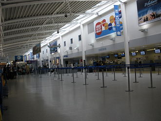Inverness Airport - Check-in hall