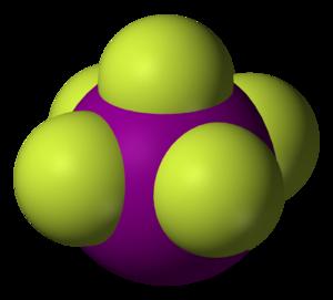 Iodine pentafluoride - Image: Iodine pentafluoride 3D vd W