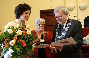 Irena Szewińska - Irena Szewińska with Konstanty Dombrowicz