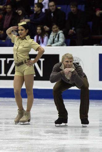 Isabelle Delobel - Isabelle Delobel and Olivier Schoenfelder at the 2008-09 Grand Prix Final
