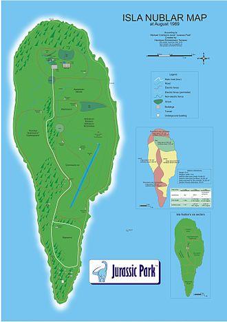 Isla Nublar - Image: Isla Nublar map english