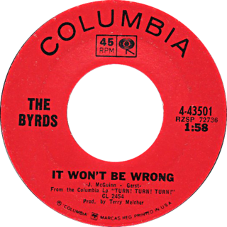 It Wont Be Wrong 1966 single by The Byrds