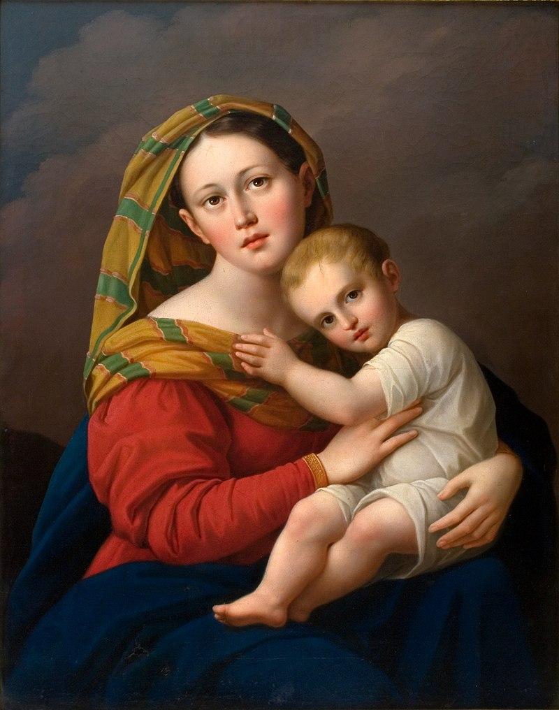 Юзеф Олешкевич - Мадонна с младенцем - MNK II-a-617 - Национальный музей Кракова.
