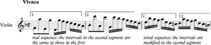Sequence (music) - J.S. Bach Concerto for Two Violins in D minor, first movement, bars 22-24