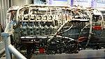 J79-IHI-11A turbojet engine(cutaway model) compressor section left side view at JASDF Hamamatsu Air Base Publication Center November 24, 2014.jpg
