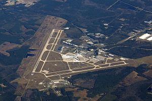 Jacksonville International Airport - An aerial view of the airfield.