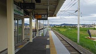 Ishinomakiayumino Station - Image: JR East Senseki line Ishinomaki ayumino station platform 20160726 165502