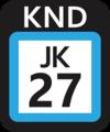 JR JK-27 station number.png