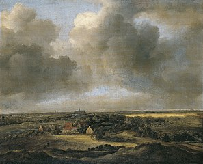 View of bleaching fields of Bloemendaal near Haarlem