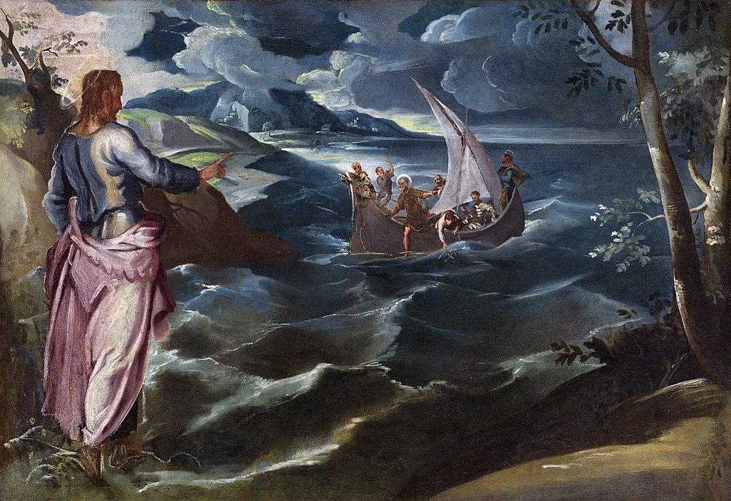 """""""Christ at the Sea of Galilee"""" by Tintoretto"""