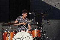Jakob Sudau (Tonbandgerät) (Rio-Reiser-Fest Unna 2013) IMGP8043 smial wp.jpg