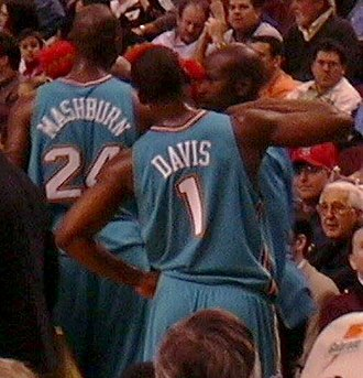 Baron Davis - Davis, pictured here in 2003, was drafted by the Hornets in 1999