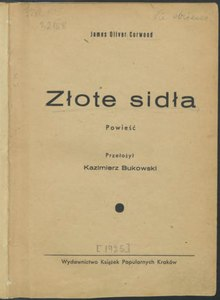 James Oliver Curwood - Złote sidła.djvu