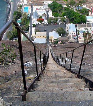 Jamestown, Saint Helena - View down Jacob's Ladder