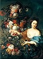 Jan Baptist Bosschaert - Still life of flowers with a young woman.jpg
