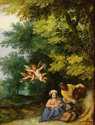 Jan Brueghel the Elder - Rest on the Flight into Egypt, with Hans Rottenhammer
