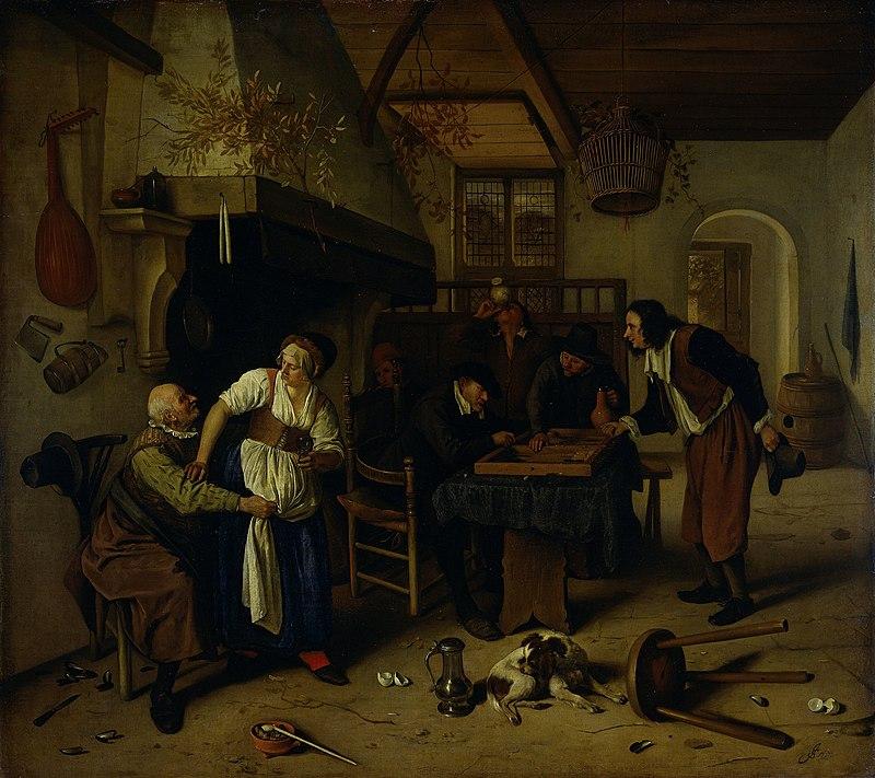 Jan Steen, The Double Game, c. 1660-1679, Rijksmuseum, Amsterdam, Netherlands.